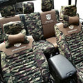 Transformers Autobot Customized Camo Auto Car Seat Covers 10pcs Sets for Jeep Liberty - Green