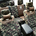 Transformers Autobot Customized Camo Auto Car Seat Covers 10pcs Sets for Jeep Rubicon - Green