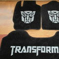Transformers Tailored Trunk Carpet Cars Floor Mats Velvet 5pcs Sets For BMW 520i - Black