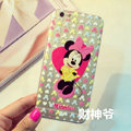 Transparent Cover Disney Minnie Mouse Silicone Cases Heart for iPhone 6 Plus 5.5 - Pink