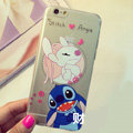 Transparent Cover Disney Stitch Silicone Shell Angie for iPhone 7 - White