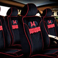 VV Disney Mickey Minnie velvet Custom Auto Car Seat Cover Set - Black