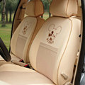 VV Mickey Mouse mesh Custom Auto Car Seat Cover Set - Beige