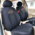 VV Mickey Mouse mesh Custom Auto Car Seat Cover Set - Black