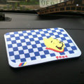 Winnie the Pooh Automobile Non-Slip Mat PVC Cartoon Car Anti-Slip Mat Squares - Blue