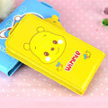 Winnie the Pooh Flip leather Case Holster Cover Skin for iPhone 6S Plus - Yellow
