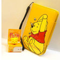 Winnie the Pooh Side Flip leather Case Holster Cover Skin for iPhone 5C - Yellow
