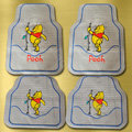 Winnie the Pooh Universal Automobile Carpet Car Floor Mats Set Rubber 5pcs Sets - Grey