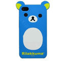 Rilakkuma Panda hard back cover for iphone 4G - blue