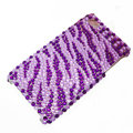 zebra iphone 3G case crystal bling cover - purple