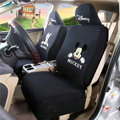 Cheap Mickey Minnie Mouse Universal Auto Cars Seat Covers Cotton Full Set 10pcs - Black