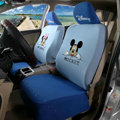 Cheap Mickey Minnie Mouse Universal Auto Cars Seat Covers Cotton Full Set 10pcs - Blue