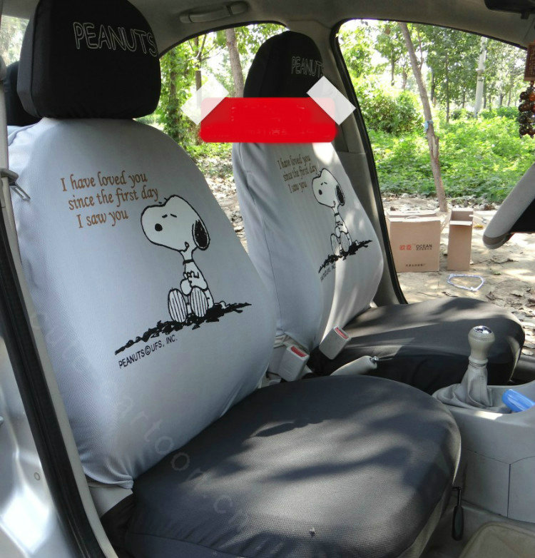 Buy Wholesale Cheap Snoopy Universal Auto Car Seat Covers Cotton