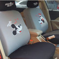 Cheapest Mickey Mouse Universal Auto Car Seat Covers Honeycomb Mesh Full Set 10pcs - Grey