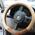 Classic Monchhichi Auto Velvet Steering Wheel Covers 15 inch 38CM - Brown
