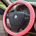 Classic Paul Frank Auto Velvet Steering Wheel Covers 15 inch 38CM - Pink
