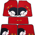 Cool Monchhichi Universal Auto Carpet Custom Floor Mats Velvet 5pcs Sets - Red