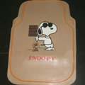 Cooling Snoopy Universal Auto Carpet Custom Floor Mats Rubber 5pcs Sets - Beige