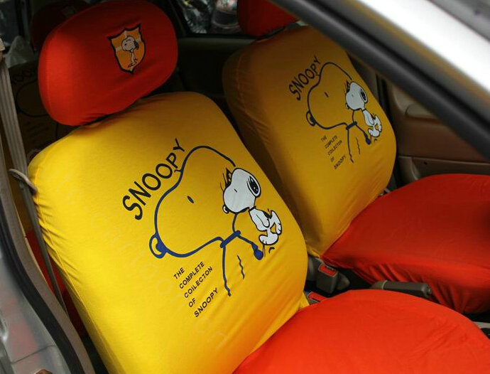 Buy Wholesale Cute Snoopy Universal Auto Car Seat Covers Cotton Full