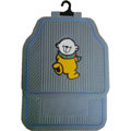 Fun Winnie the Pooh Universal Auto Carpet Custom Floor Mats Rubber 5pcs Sets - Grey