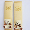 Funky Winnie the Pooh Velvet Car Seat Strap Covers Car Decoration 2pcs - Yellow