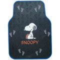 Grey Step Snoopy Universal Auto Carpet Custom Floor Mats Rubber 5pcs Sets - Black