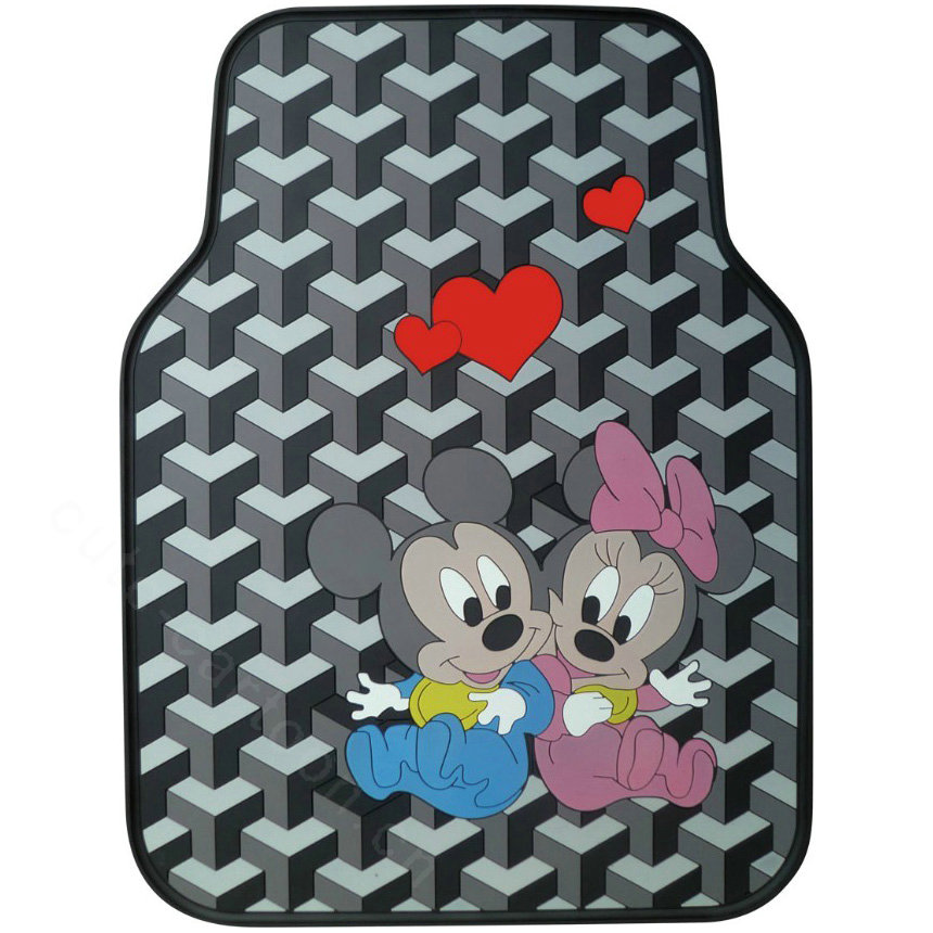 buy wholesale hologram mickey mouse universal auto carpet custom floor mats rubber 5pcs sets. Black Bedroom Furniture Sets. Home Design Ideas