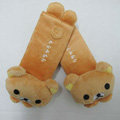 Lovely Rilakkuma Velvet Car Seat Strap Covers Car Decoration 2pcs - Yellow