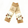 Lovely Winnie the Pooh Velvet Car Seat Strap Covers Car Decoration 2pcs - Brown