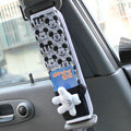NAPOLEX Mickey Mouse Cotton Car Seat Strap Covers Car Decoration 2pcs - White