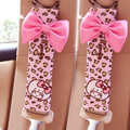 Personalized Cartoon Leopard MocMoc Synthetic Fiber Automotive Seat Safety Belt Covers Car Decoration 2pcs - Pink