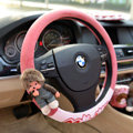 Pretty Monchhichi Auto Velvet Steering Wheel Covers 15 inch 38CM - Pink