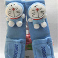 Pretty Cartoon Doraemon Velvet Automotive Seat Safety Belt Covers Car Decoration 2pcs - Blue
