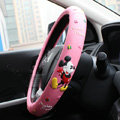 Pretty Mickey Mouse Auto Green Latex Rubber Steering Wheel Covers 15 inch 38CM - Pink