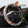 Pretty Paul Frank Magic Velvet Auto Cars Steering Wheel Covers 15 inch 38CM - Colorful