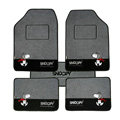 Quality Snoopy Universal Auto Carpet Custom Floor Mats Velvet 5pcs Sets - Grey