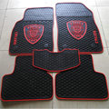 Red Edge Transformers Universal Auto Carpet Custom Floor Mats Rubber 5pcs Sets - Black