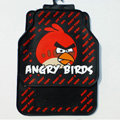 Unique Angry Birds Universal Automobile Carpet Floor Mats For Cars Rubber 5pcs Sets - Red
