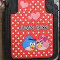 Unique Angry Birds Universal Polka dot Automobile Carpet Floor Mats For Cars Rubber 5pcs Sets - Red