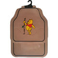 Unique Winnie the Pooh Universal Auto Carpet Custom Floor Mats Rubber 5pcs Sets - Brown