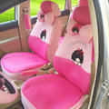 Cooling Monchhichi Universal Auto Seat Cover For Car Sandwich Fabric Full Set 18pcs - Pink