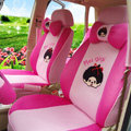 Cooling Monchhichi Universal Auto Seat Cover For Casr Sandwich Fabric Full Set 18pcs - Pink