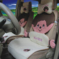 Fluffy Monchhichi Universal Auto Car Seat Covers Ice Silk Full Set 12pcs - Beige