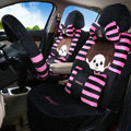 Fringe Monchhichi Universal Auto Seat Cover For Car Velvet Full Set 20pcs - Rose