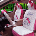Quality Mocmoc Universal Auto Car Seat Covers PU Leather Full Set 10pcs - Rose