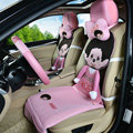 Quality Monchhichi Universal Auto Car Seat Covers Ice Silk Full Set 9pcs - Pink