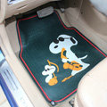 Unique Snoopy Universal Auto Carpet Floor Mats Rubber 2pcs Sets - Blue