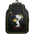 Unique Snoopy Universal Auto Carpet  Floor Mats Rubber 5pcs Sets - Black