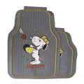 Unique Snoopy Universal Auto Carpet Floor Mats Rubber 5pcs Sets - Grey