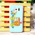 Cake Matte Rilakkuma Hard Back Cases For Samsung Galaxy S6 Edge G9250 - Blue